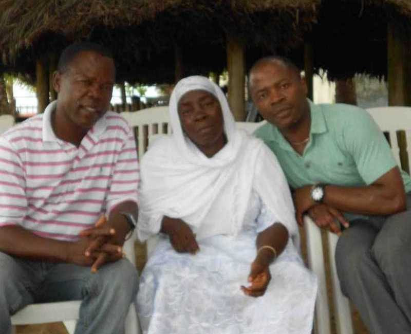 With my big brother Mustapha and my mother in Monrovia